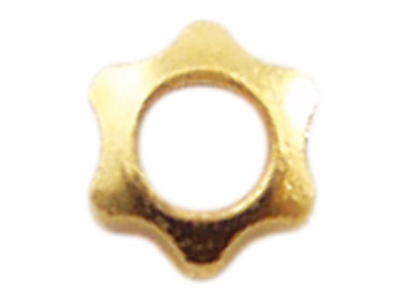 Mutter, M1,5, Stern, 2,5 mm, vergoldet, Neusilber, 100 Stk.