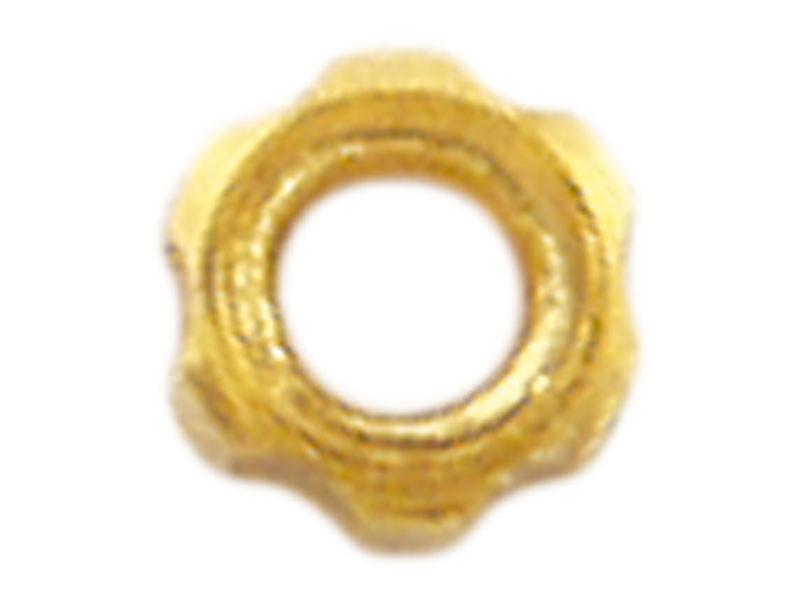 Mutter, M1,4, Stern, 2,2 mm, vergoldet, Neusilber, 100 Stk.