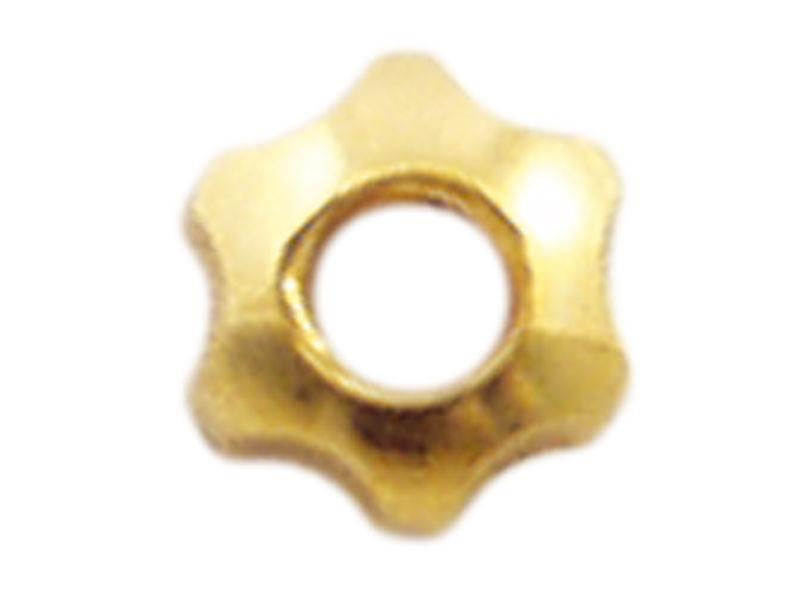 Mutter, M1,4, Stern, 2,5 mm, vergoldet, Neusilber, 100 Stk.