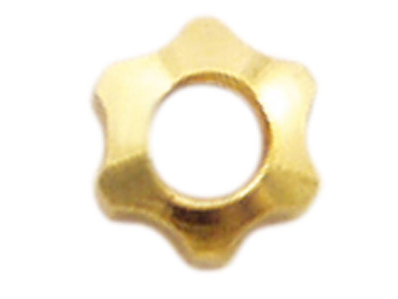 Mutter, M1,6, Stern, 2,5 mm, vergoldet, Neusilber, 100 Stk.