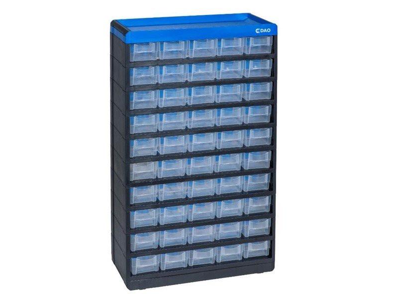 Sortierkasten leer oder bestückt, 50 Schübe